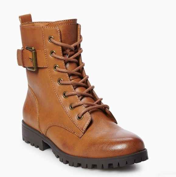 SO Broccoli Brown Combat Boots